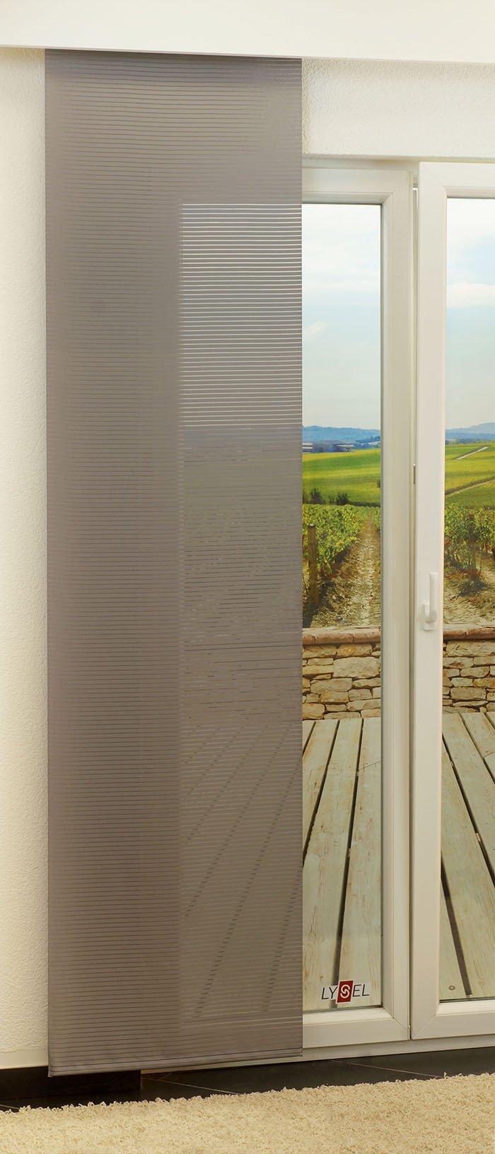 lysel schiebegardinen groom steingrau breite 60 x h he 245 cm ebay. Black Bedroom Furniture Sets. Home Design Ideas