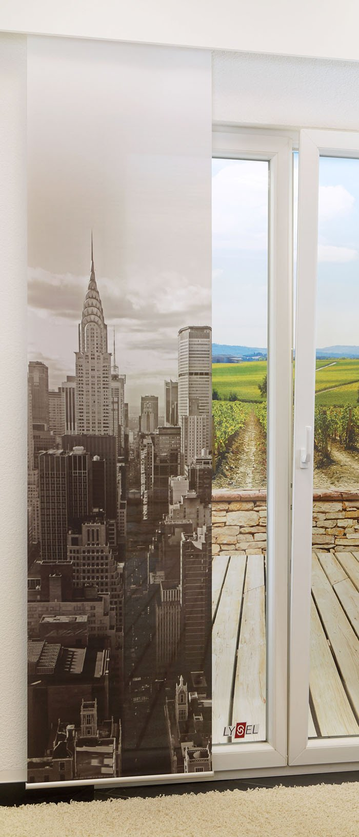 lysel schiebegardinen manhattan perlgold breite 60 x h he 245 falkenstein. Black Bedroom Furniture Sets. Home Design Ideas
