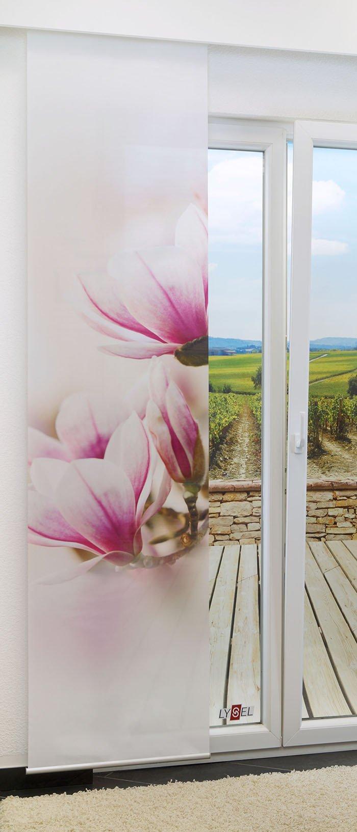 schiebegardine magnolie 0a. Black Bedroom Furniture Sets. Home Design Ideas