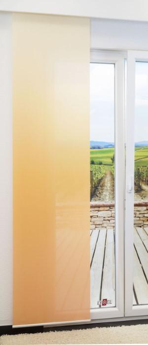gelbe schiebegardinen effektiver blickschutz am fenster. Black Bedroom Furniture Sets. Home Design Ideas