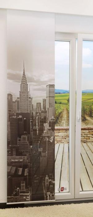 lysel schiebegardinen manhattan perlgold 60 x 245 cm falkenstein. Black Bedroom Furniture Sets. Home Design Ideas