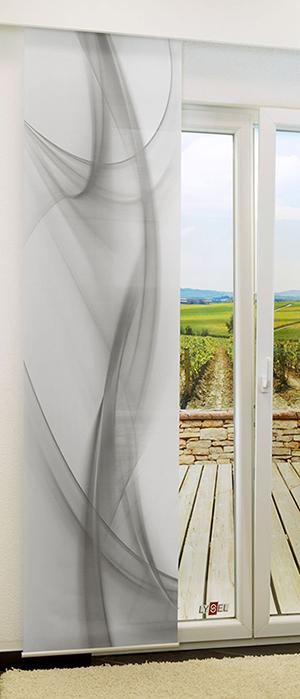lysel schiebegardinen swirl grau 60 x 245 cm ebay. Black Bedroom Furniture Sets. Home Design Ideas