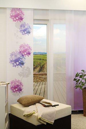 lysel schiebegardinen gradient lila 60 x 245 cm falkenstein. Black Bedroom Furniture Sets. Home Design Ideas