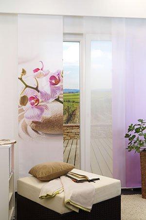 lysel schiebegardinen orchid rosa 60 x 245 cm falkenstein. Black Bedroom Furniture Sets. Home Design Ideas