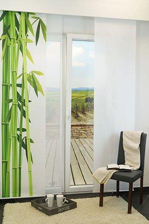 Schiebegardinen bambus print for Bambus schiebevorhang