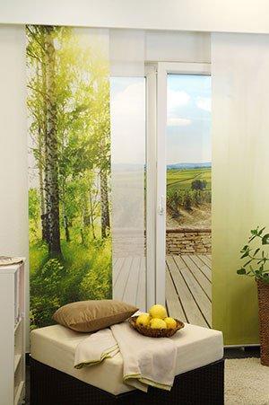 lysel schiebegardinen fragment purpur 60 x 245 cm falkenstein. Black Bedroom Furniture Sets. Home Design Ideas