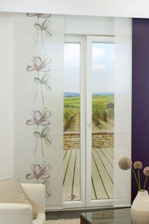 lysel schiebegardinen hatz grau 60 x 245 cm falkenstein. Black Bedroom Furniture Sets. Home Design Ideas