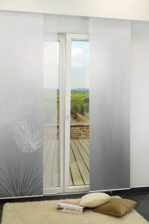 lysel schiebegardinen london rot grau 60 x 245 cm ebay. Black Bedroom Furniture Sets. Home Design Ideas