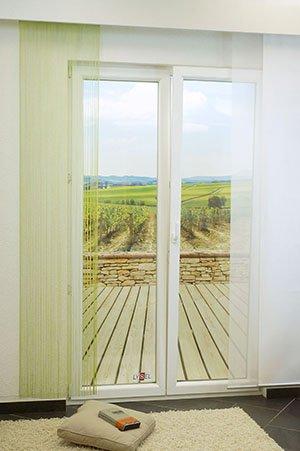 lysel schiebegardinen gradient blassgr n 60 x 245 cm falkenstein. Black Bedroom Furniture Sets. Home Design Ideas
