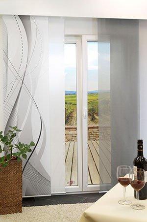 schiebegardinen swing 1. Black Bedroom Furniture Sets. Home Design Ideas