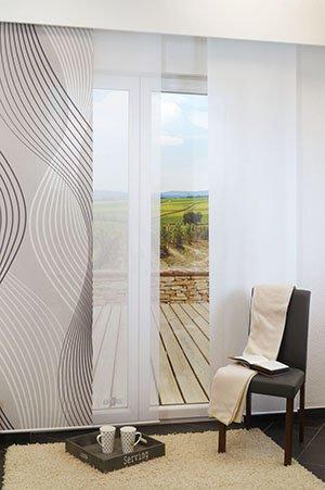 lysel schiebegardinen coarse marine 60 x 245 cm falkenstein. Black Bedroom Furniture Sets. Home Design Ideas