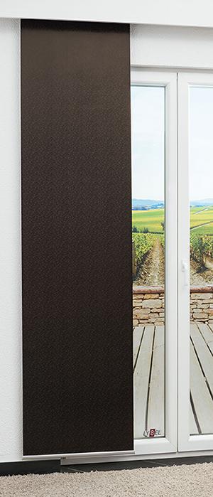 braune schiebegardinen. Black Bedroom Furniture Sets. Home Design Ideas