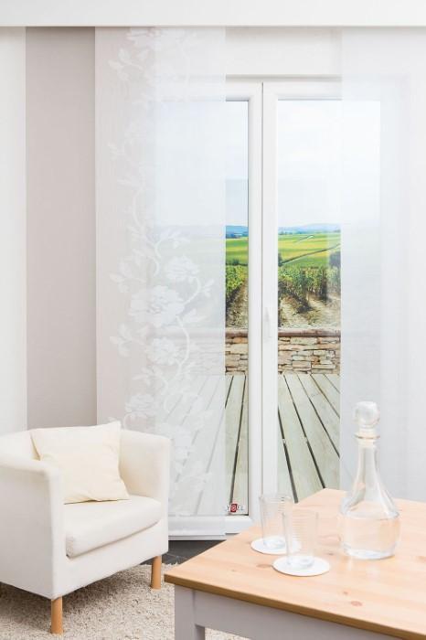 schiebegardinen im set stimmige dekoration im raumtextilienshop. Black Bedroom Furniture Sets. Home Design Ideas