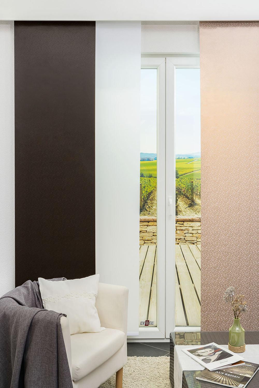 Kurze Schiebegardinen Für Kleine Fenster Im Raumtextilienshop