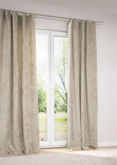 lysel vorhang parca abdunkelnd als deko sicht und sonnenschutz ockergelb ebay. Black Bedroom Furniture Sets. Home Design Ideas