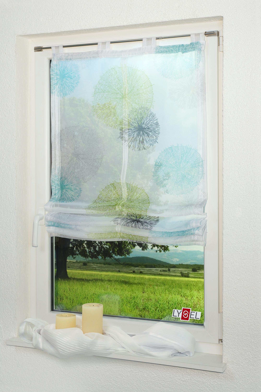 lysel raffrollo chip gr n blau ebay. Black Bedroom Furniture Sets. Home Design Ideas