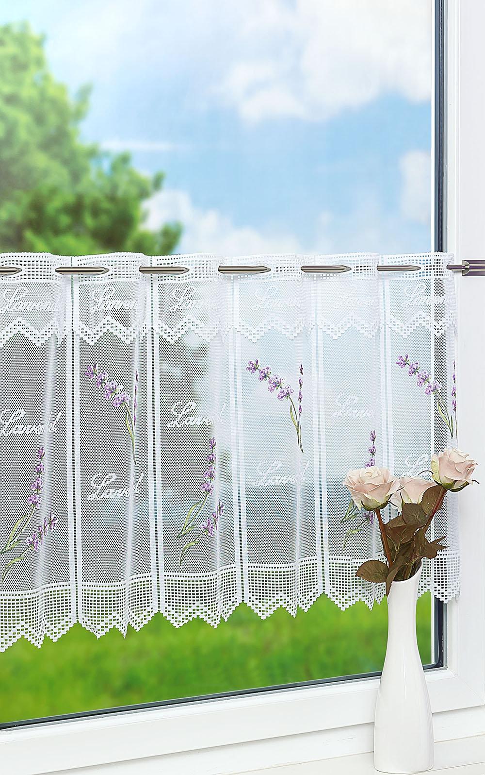 lysel scheibengardinen lavendel blasslila violett ebay. Black Bedroom Furniture Sets. Home Design Ideas