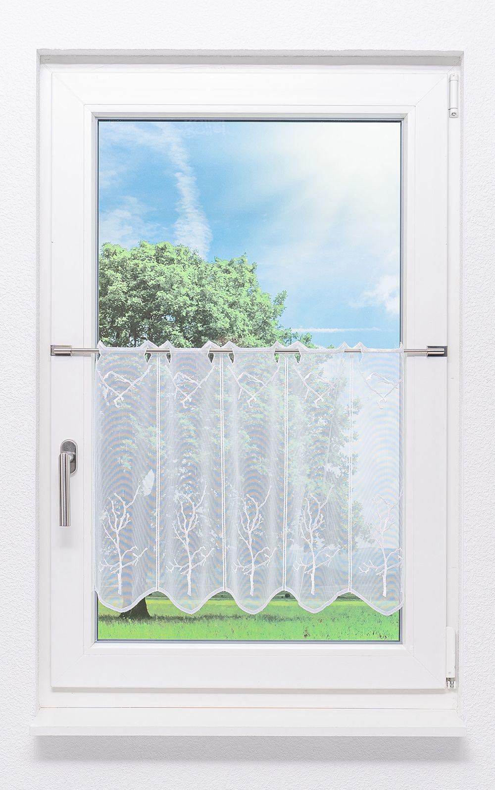 plauener spitze scheibengardinen baum wei ebay. Black Bedroom Furniture Sets. Home Design Ideas