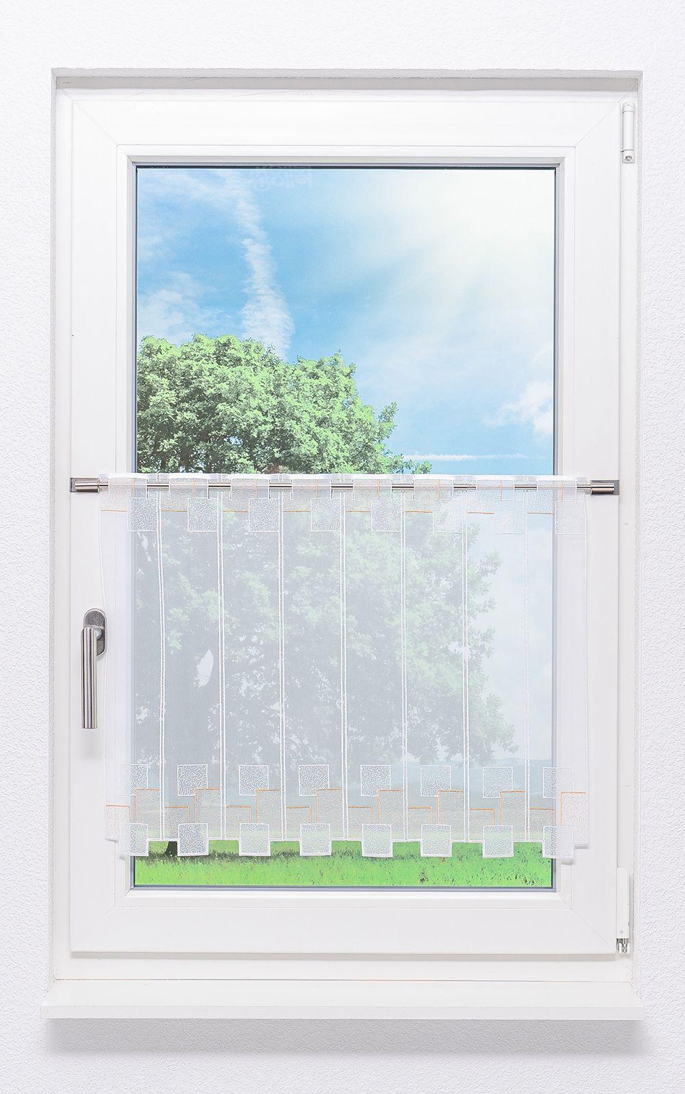 plauener spitze scheibengardinen blocks wei gold ebay. Black Bedroom Furniture Sets. Home Design Ideas