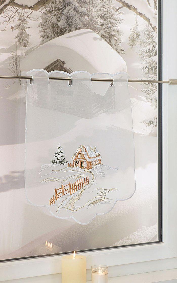 plauener spitze scheibengardinen wintergegend ockerbraun ebay. Black Bedroom Furniture Sets. Home Design Ideas