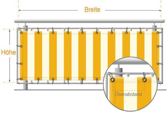 balkonbespannung aus markisenstoff richtig messen. Black Bedroom Furniture Sets. Home Design Ideas