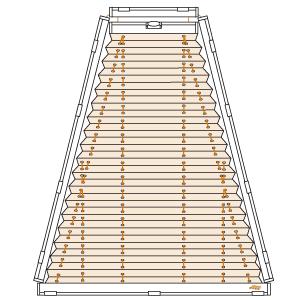 trapezfenster plissee plafondanlage cosiflor pl 30. Black Bedroom Furniture Sets. Home Design Ideas