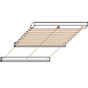plissee plafondanlage cosiflor plk 13 1. Black Bedroom Furniture Sets. Home Design Ideas