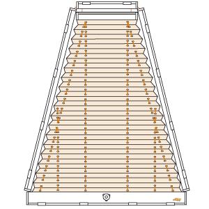 trapezfenster plissee plafondanlage cosiflor plk 30. Black Bedroom Furniture Sets. Home Design Ideas