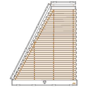 trapezfenster plissee plafondanlage cosiflor plk 31. Black Bedroom Furniture Sets. Home Design Ideas