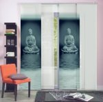 schiebepaneel buddha raumtextilienshop. Black Bedroom Furniture Sets. Home Design Ideas