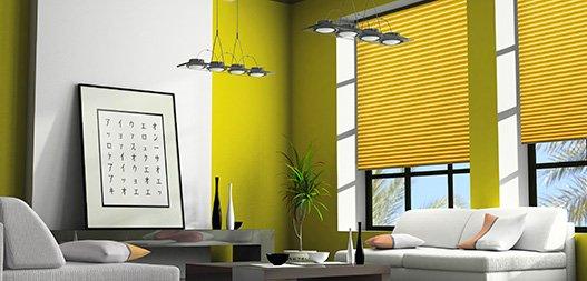 plissee bildergalerie und deko beispiele im raumtextilienshop. Black Bedroom Furniture Sets. Home Design Ideas