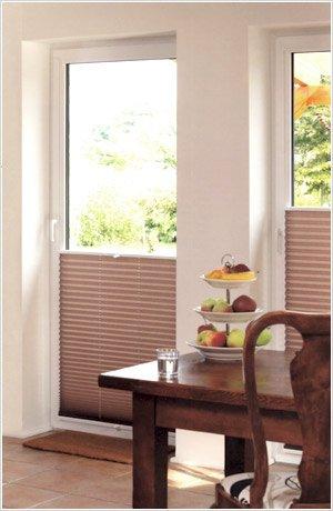 plissees vom raumtextilienshop plissee faltrollos f r jede fensterform. Black Bedroom Furniture Sets. Home Design Ideas