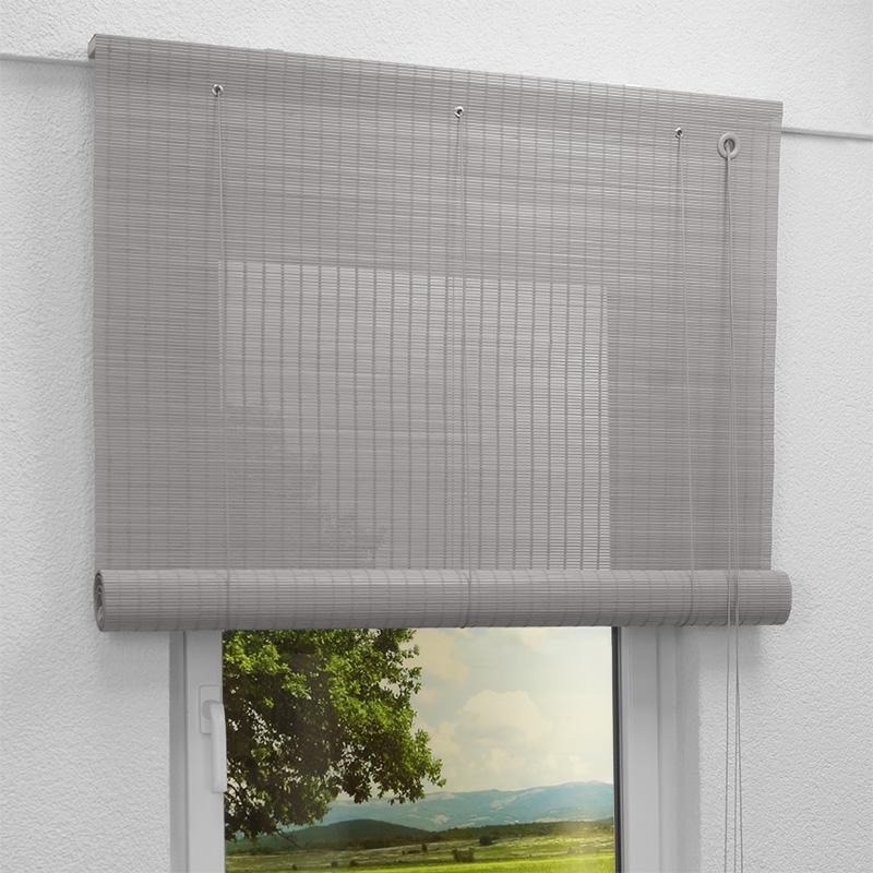 bambusrollo achatgrau b287. Black Bedroom Furniture Sets. Home Design Ideas