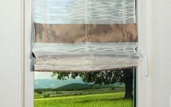 braune vorh nge und gardinen kreative fensterdekoration. Black Bedroom Furniture Sets. Home Design Ideas