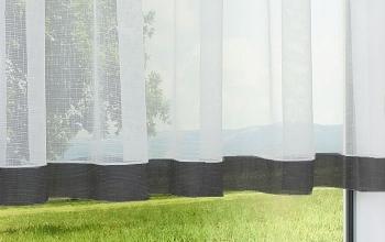 Gardinen vorh nge schwarze kreative fensterdekoration - Schwarze gardinen ...