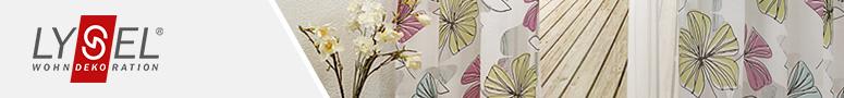 gardinenschals mit muster und motiven im raumtextilienshop. Black Bedroom Furniture Sets. Home Design Ideas
