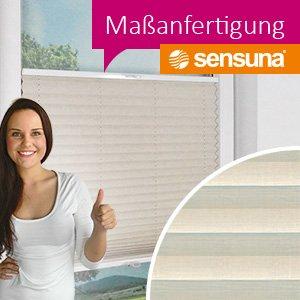 plissee nach ma sensuna plissees und cosiflor plissee. Black Bedroom Furniture Sets. Home Design Ideas