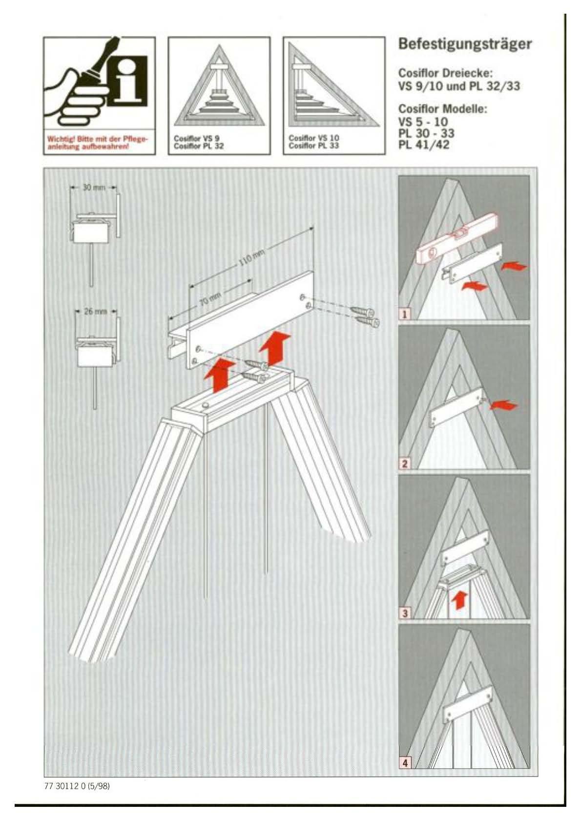 dreiecksfenster plissee cosiflor vs 10. Black Bedroom Furniture Sets. Home Design Ideas