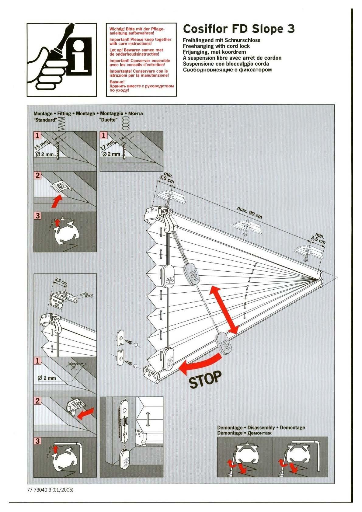 dreiecksfenster plissee cosiflor fd slope 3. Black Bedroom Furniture Sets. Home Design Ideas