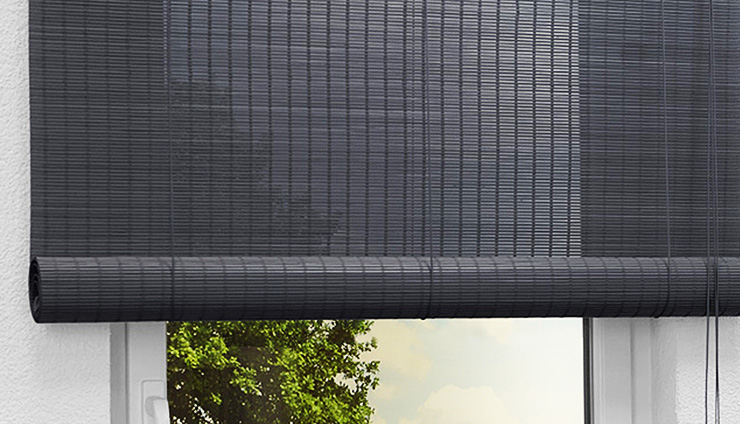 bambusrollos dekorative natur mit tollen funktionen aus dem raumtextilienshop. Black Bedroom Furniture Sets. Home Design Ideas