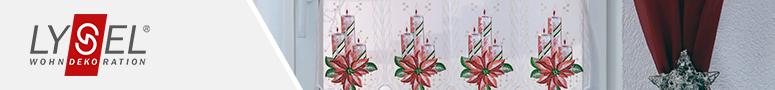 Scheibengardinen f r weihnachten im raumtextilienshop - Bistrogardine weihnachten ...