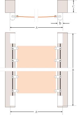 anleitung zum messen zur montage und bedienung von seilspannsegeln nach ma. Black Bedroom Furniture Sets. Home Design Ideas