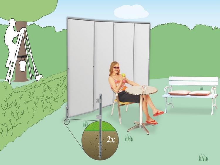 schraub erdanker 2 x mit verbindungsrohr raumtextilienshop. Black Bedroom Furniture Sets. Home Design Ideas