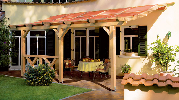 planungshilfen f r pergola toscana mit sonnenschutzsegel terracotta. Black Bedroom Furniture Sets. Home Design Ideas